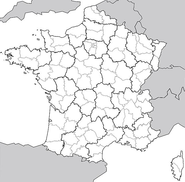 Matrice de la carte de France