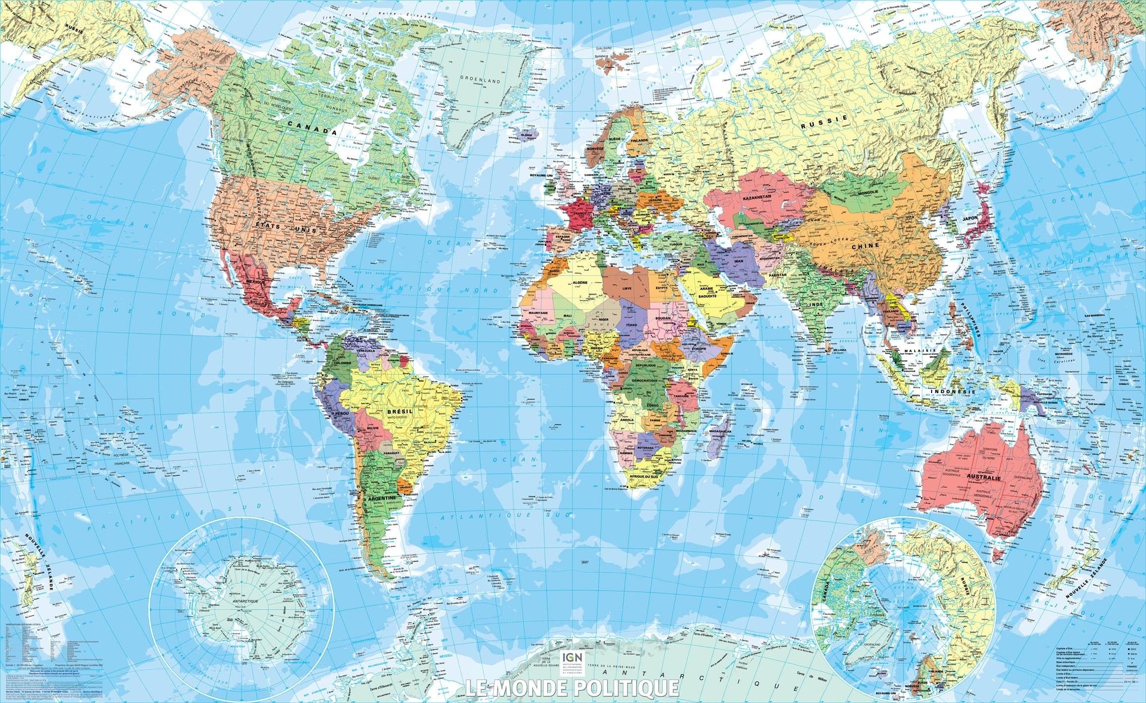 carte du monde 1